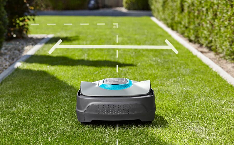 Příprava robotické sekačky Gardena